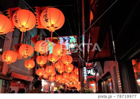 長崎ランタンフェスティバルの中華街 78719977