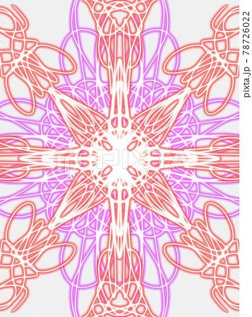 赤と紫の綺麗な万華鏡のような模様 78726022
