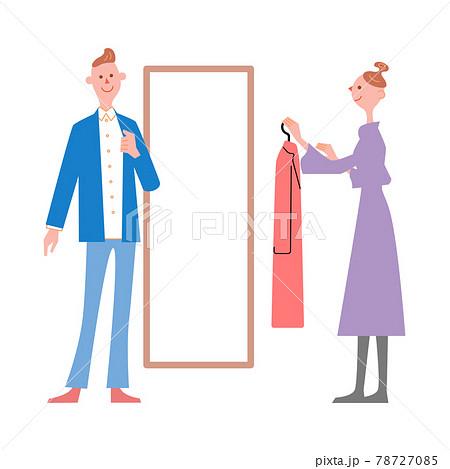 洋服を選ぶ夫婦 78727085