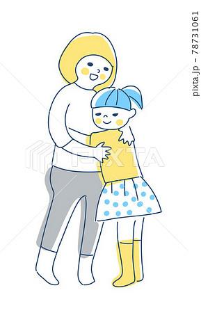 抱き合っている2人の女の子 78731061