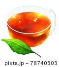 一枚の葉と紅茶 78740303