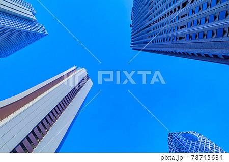 【東京の都市風景】新宿副都心の高層ビル群 78745634