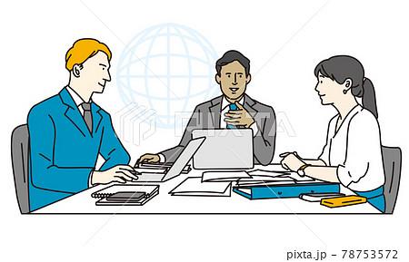 ミーティングをする国際的なビジネスパーソン 78753572