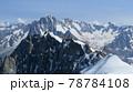 アルプスの鋭利な山々と氷河を望む 78784108