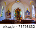 野外民族博物館 リトルワールド ドイツ バイエルン州の村 聖ゲオルグ礼拝堂の中 78793832