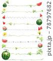 スイカの種や蔓の罫線 78797682