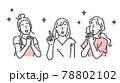 笑顔の女性・友達に紹介するイラスト素材 78802102