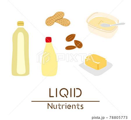 脂質を多く含む食品のイラスト 78805773