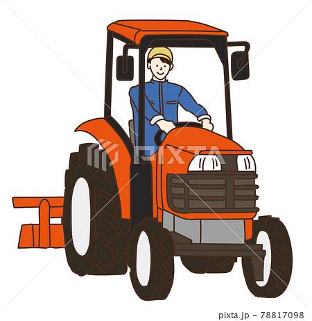 農業、農家、トラクター、耕運機 イラスト 78817098
