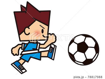 サッカー シュート 78817988