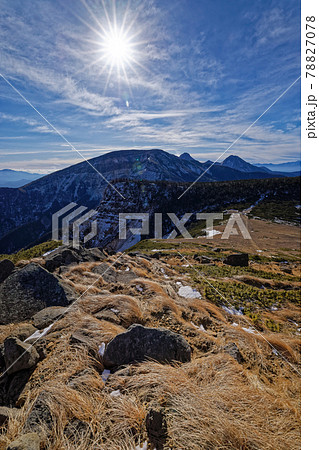 初冬の根石岳から見る八ヶ岳主峰群 78827078