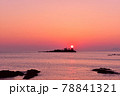 日和山海岸の朝日 78841321