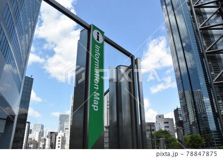 東京モノレール汐留駅から降りた都内的な建物の風景 78847875