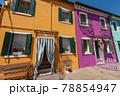 Beautiful Multi Colored Houses in Burano Island - Venice Lagoon Veneto Italy 78854947