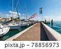Small Port of the Bardolino village on Lake Garda - Lago di Garda Veneto Italy 78856973