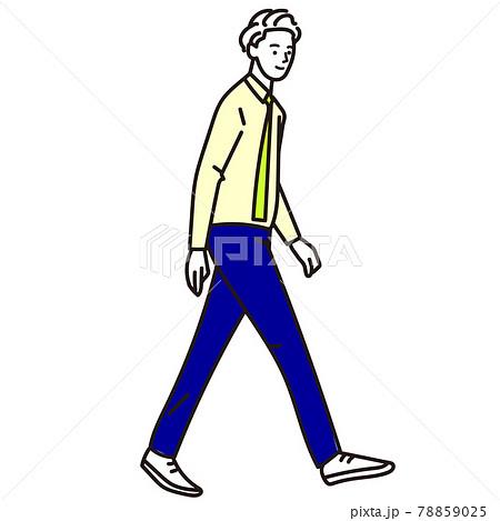 歩いているスーツの男性のベクター 78859025