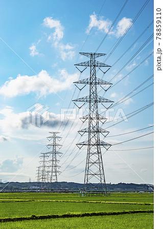 鉄塔 高圧鉄塔 送電線 78859110