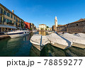 Port of the small Lazise Village - Tourist Resort on Lake Garda Veneto Italy 78859277