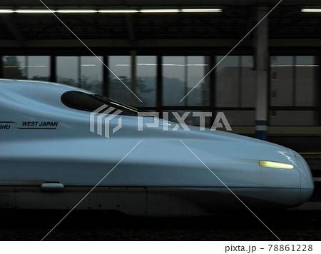 九州新幹線N700系、さくら号の先頭車横顔 78861228