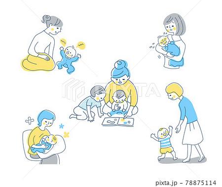 赤ちゃんとママ さまざまなシーン セット 78875114