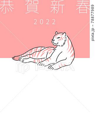 年賀状のテンプレート素材(2022年・寅年) 78877989