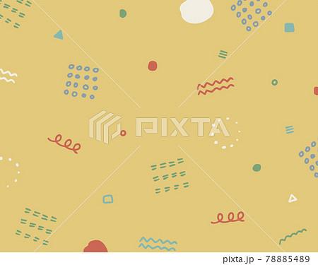 おしゃれな幾何学模様のフレーム カラフルなデザイン 背景素材 78885489
