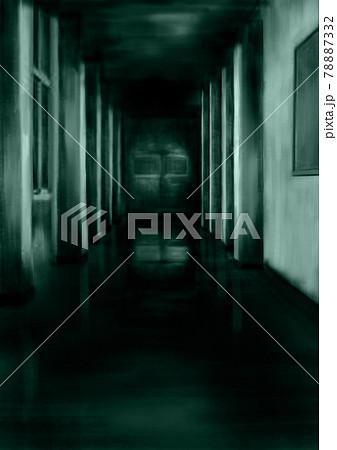 暗い廊下緑 78887332