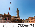 Church of San Martino and Leaning Bell Tower in Burano Island - Venice Italy 78890474