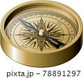 アンティークな方位磁針 コンパス 78891297