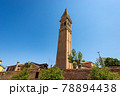 Leaning Bell Tower of the Church of San Martino in Burano Island - Venice Italy 78894438