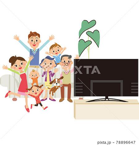 テレビで映画鑑賞、スポーツ観戦 78896647