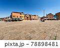 The Main Square in Burano Island - Piazza Baldassarre Galuppi Venice Italy 78898481