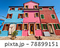 Beautiful Multi Colored Houses in Burano Island - Venice Lagoon Veneto Italy 78899151
