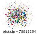ランダムにはじける色とりどりのカラーボール 78912264