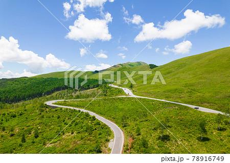 夏の白樺高原 白樺湖 車山 ビーナスライン ドローン空撮 78916749