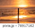 とんぼ シルエット 夕焼け 湖 78917162