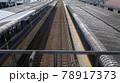 電車がいない時の静寂な駅のホーム写真 78917373