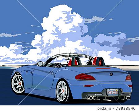 夏空ーオープンカーでドライブ 78933940