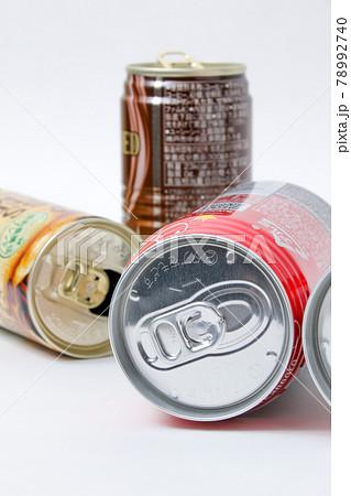 空き缶,缶,アルミ缶,飲み物,飲料水,リサイクル、ジュース,アルミニウム,アルミ,飲料 78992740