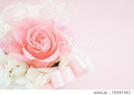 ピンクの可愛い花束 78997362