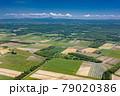 北海道・千歳市 空から眺める初夏の千歳市の風景 79020386