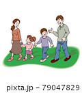 散歩する家族 79047829