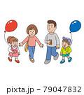 行楽地の家族 79047832
