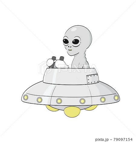 UFOを操縦する宇宙人 79097154