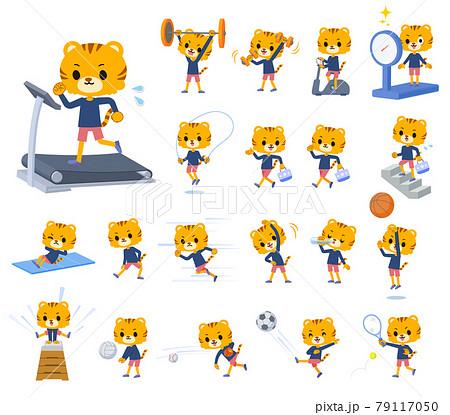 エクササイズやスポーツに関するトラの男の子のセット 79117050