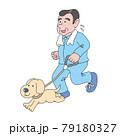 犬とランニングする男 79180327