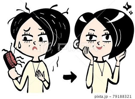 シニア女性と薄毛・抜け毛の悩み解決 79188321