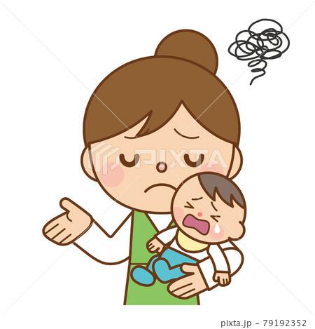 がっかりする赤ちゃんとママ 79192352