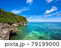 沖縄県宮古島、伊良部島の磯・日本 79199000
