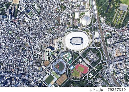 国立競技場周辺真俯瞰・空撮・2021撮影 79227359
